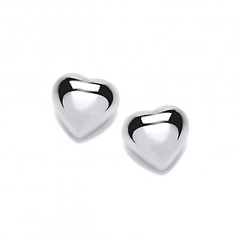 Cavendish French Simple Silver Heart Stud Earrings