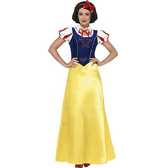 Smiffys Princess Snow Costume Yellow With Dress Collar & Headband (Costumes)