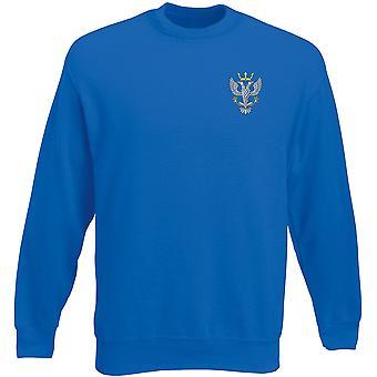 De interlineaire Regiment geborduurd Logo - officiële Britse leger Heavyweight Sweatshirt