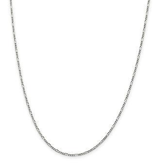 Argent sterling solide poli 1,75 mm chaîne Figaro Anklet printemps - 1,6 grammes 9 po - bague