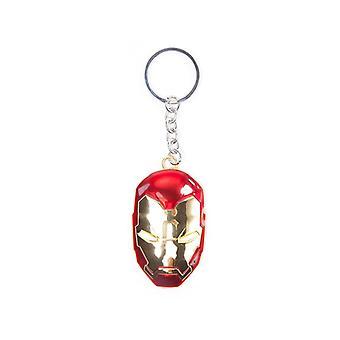Captain America Civil War Iron Man Mask 3D Pendant Metal Keychain Keyring