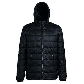 2786 Mens Box Quilt Hooded Zip Up Jacket