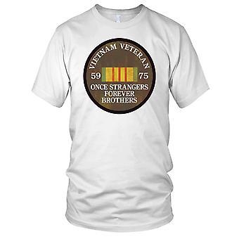 Vietnam War Veteran 59-75 Once Strangers Grunge Effect Ladies T Shirt