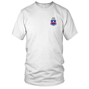 US Army - 142nd Infantry Regiment Embroidered Patch - Mens T Shirt