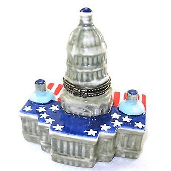 Capitol Hill Porcelain Hinged Trinket Box