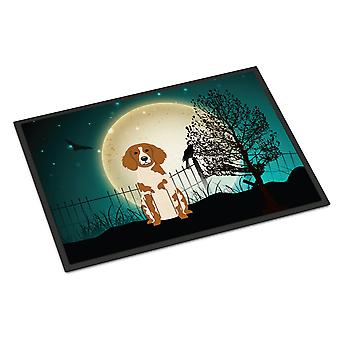 Halloween Scary Brittany Spaniel Indoor or Outdoor Mat 24x36