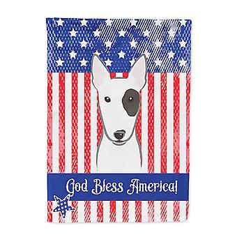 Tamaño de la casa Carolines tesoros BB2139CHF Bull Terrier bandera tela