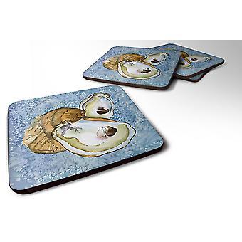 Carolines Treasures  8152FC Set of 4 Oyster Foam Coasters