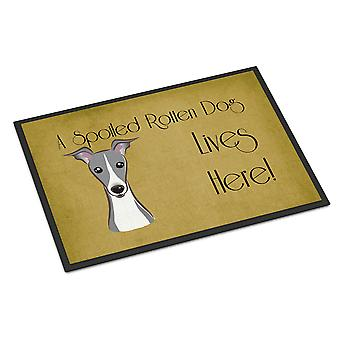 Italian Greyhound Spoiled Dog Lives Here Indoor or Outdoor Mat 24x36