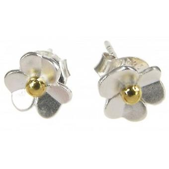 Cavendish French Sterling Silver Daisy Stud Earrings