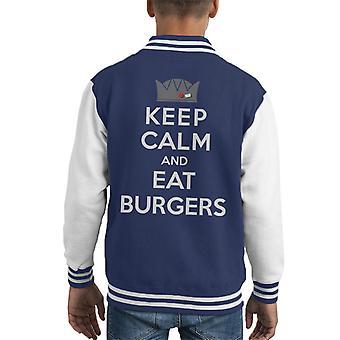 Jughead Keep Calm And Eat Burgers Kid's Varsity Jacket