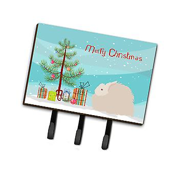 Fluffy Angora Rabbit Christmas Leash or Key Holder
