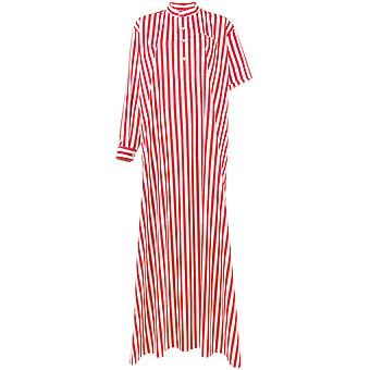 Balenciaga women's 457254TUB036540 white/red cotton dress