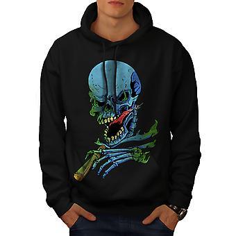 Rasta Skeleton Rock Men BlackHoodie | Wellcoda