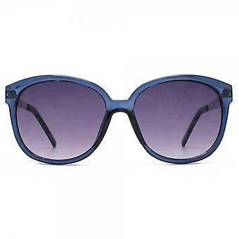M:UK Carnaby Chic Round Sunglasses In Crystal Blue