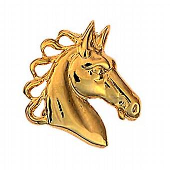 9ct or 20x21mm Chevaux tête Broche