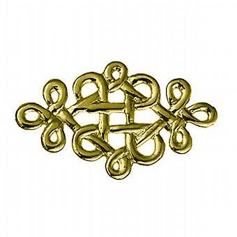9ct Gold 20x32mm Celtic knot design Brooch