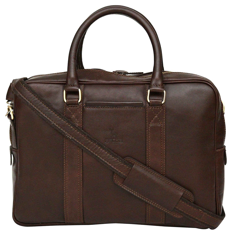 Cuir véritable 13& 034; Laptop Briefcase rentabilisation sac double poignée Made In