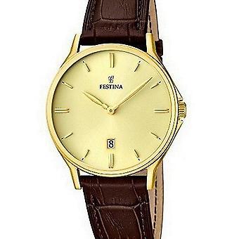 FESTINA - Herren Armbanduhr - F16747/2 - Lederband klassisch - Klassik