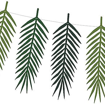 Tropical Leaf  Garland 2m Aloha Birthday Party Bunting