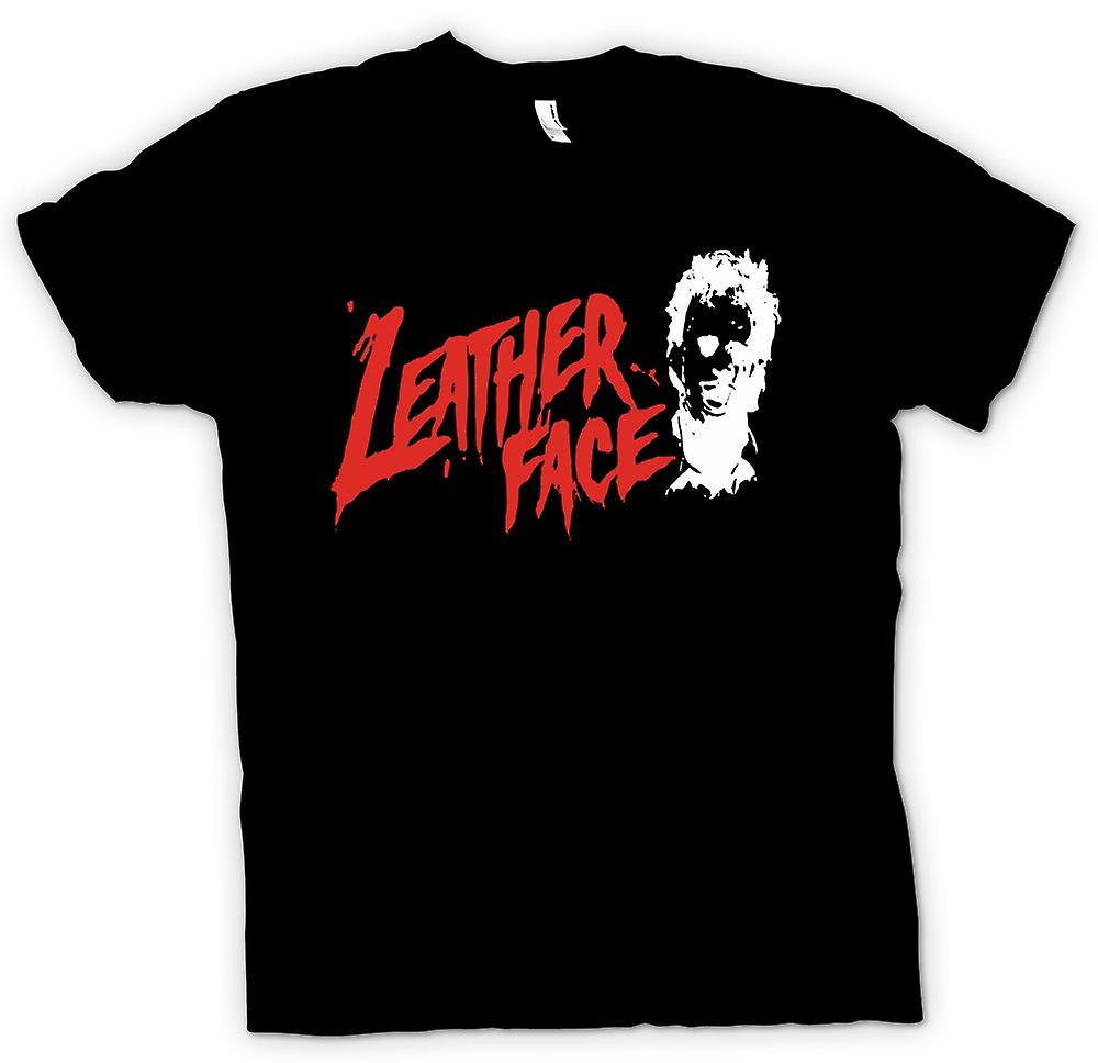 Womens T-shirt - Leather Face - Texas Chainsaw - Horror