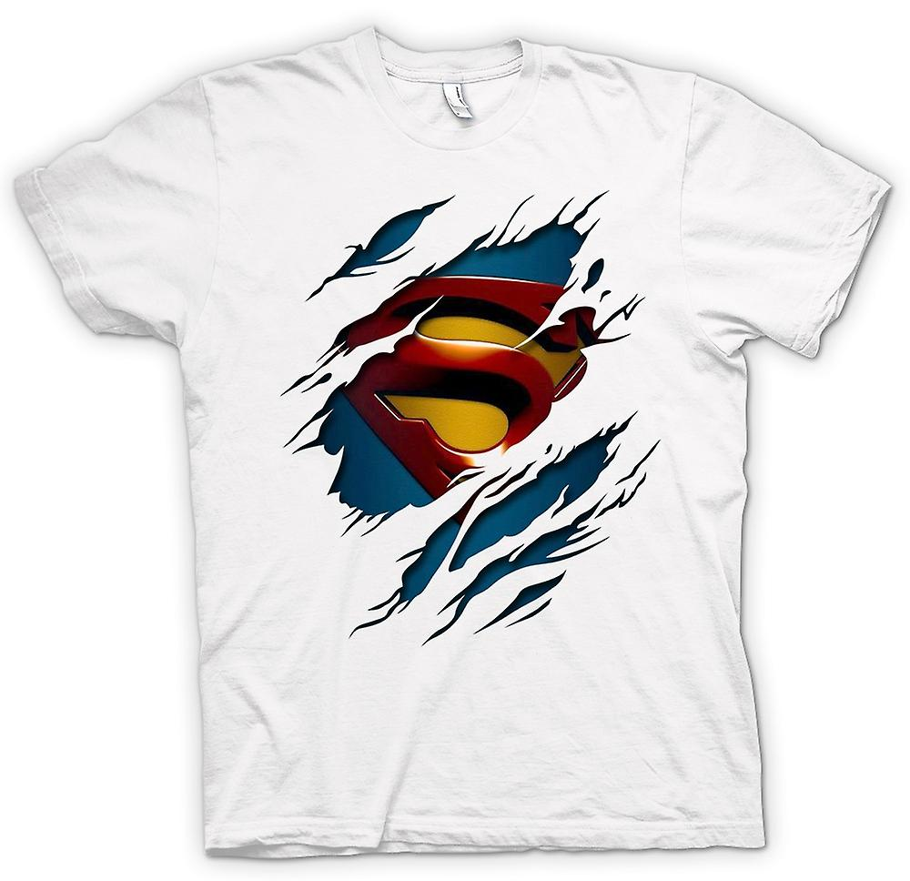 Frauen-T-Shirt - Superman unter Hemd Effect - Action - Superheld