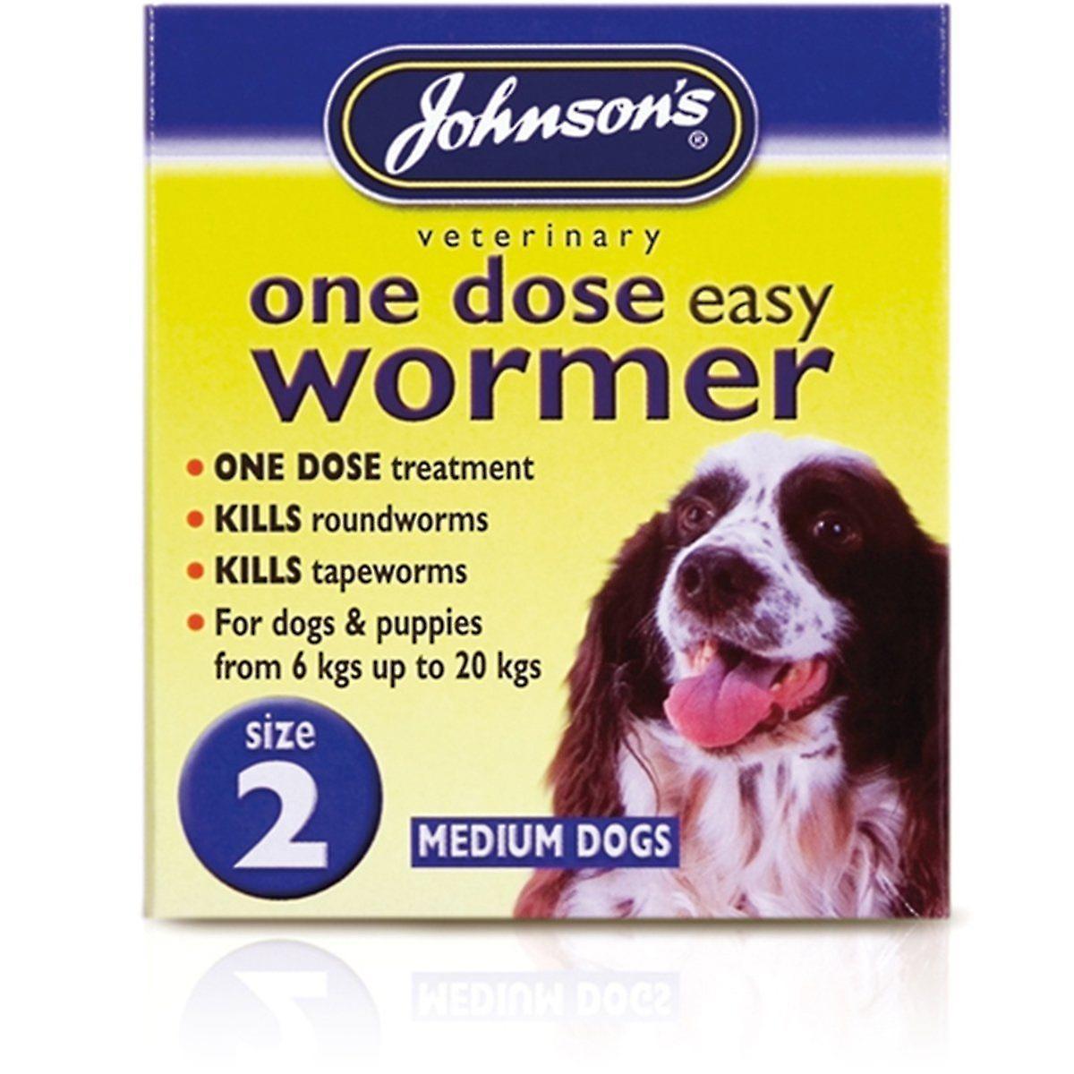 Johnsons Vet Easy One Dose Wormer, Size 2
