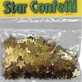 Konfetti stora guldstjärnor påse med 84g