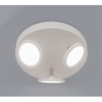 LED plafond spot muur ter plaatse gebogen R3 3x6W 3000 K roterende + wartel Matt wit 10708