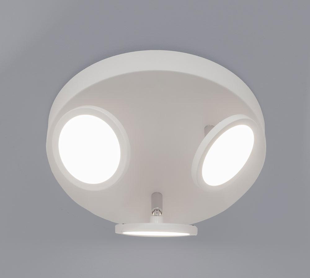LED Deckenspot Wandspot Bent R3 3x6W 3000K dreh- + schwenkbar mattweiß 10708