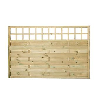 Forest Garden Europa Montreal 4ft Wooden Fence Panel with Trellis Top