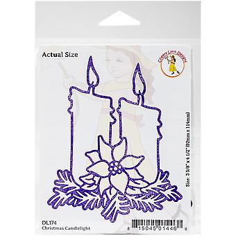Cheery Lynn Designs Doily Die-Christmas Candlelight, 3.625