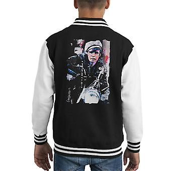 Sidney Maurer Original Portrait Of Marlon Brando The Wild One Kid's Varsity Jacket