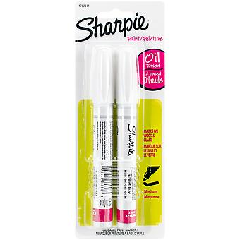 Sharpie Medium Point Oil-Based Opaque Paint Markers 2/Pkg-White