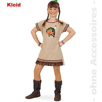 Индейский костюм ребенка индийский костюм Скво Индийская девушка костюм ребенка