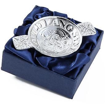 We'll tak a cup o kindness yet, For auld lang syne Mini Pewter Quaich - Burns Supper