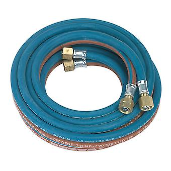 Sealey Sga5 Twin Rubber Hose Set Oxyacetylene 4.5Mtr