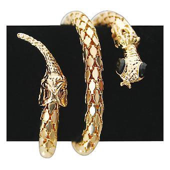 Schlangenarmreif gold elastisch Accessoire Schmuck Karneval