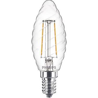 Philips Lighting LED EEC A++ (A++ - E) E14 Candle twisted 2 W = 25 W Warm white (Ø x L) 35 mm x 97 mm Filament 1 pc(s)