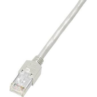 Dätwyler RJ45 Netzwerke Kabel CAT 5e S/UTP 5 m flammhemmende grau, inkl. Arretierung