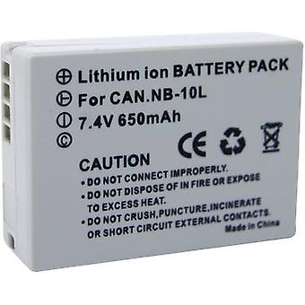 Camera battery Conrad energy replaces original battery NB-10L 7.4 V