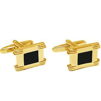 Gemshine - men - cuff links - gold plated - fire enamel - 2 cm
