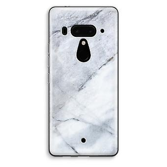 HTC U12+ Transparent Case - Marble white
