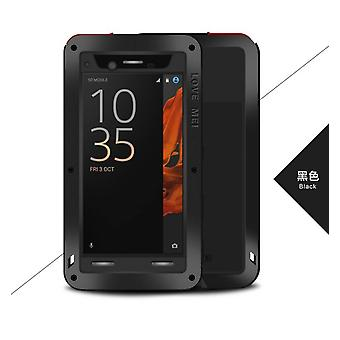 Love Mei powerful hybrid shockproof case Sony Xperia XZ, screen protector- Black