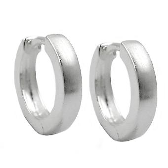 Hoop earrings 13x3mm silver 925