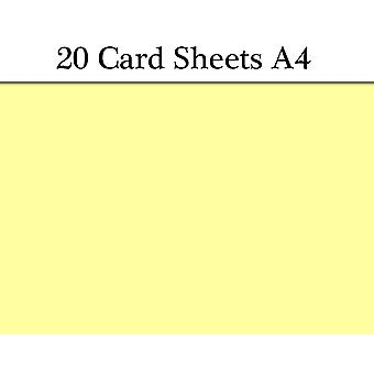 20 Yellow A4 Card Sheets for Crafts   Coloured Card for Crafts