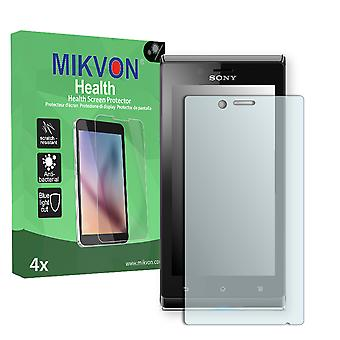 Sony Xperia ST26a Screen Protector - Mikvon Health (Retail Package with accessories)