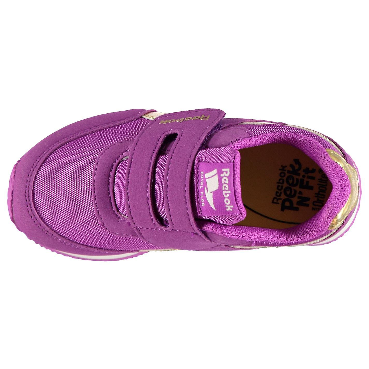 15d72c4f Reebok Girls Classic Jogger RS Baby Trainers Shoes Ortholite Tonal Stitching