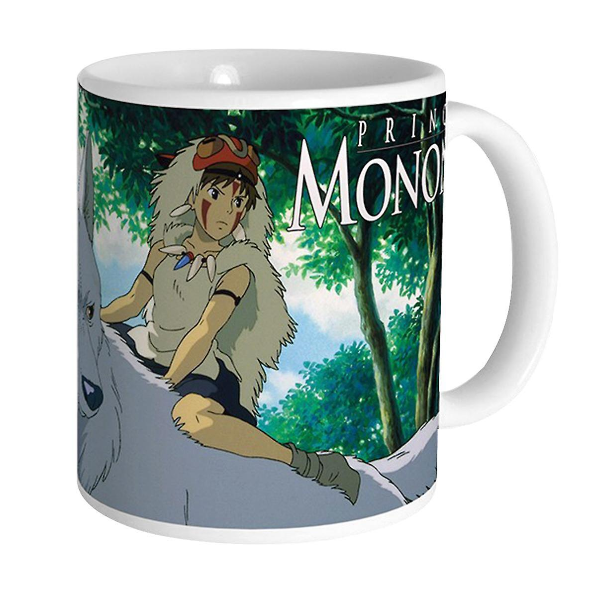 Coupe Céramique Mononoké Du BlancImpriméEn Princesse Mononoke Studio Ghibli MUSzVp