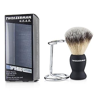 Tweezerman Gear Deluxe Rasierpinsel mit Ständer - 2St